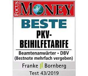 Siegel Focus Money Top Finanzkraft von DBV